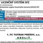 Tatran dostal licenciu pre ďalší ročník